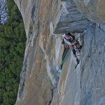 Photo of John Rich cleaning on Tangerine Trip, El Cap. Photo: John Trujillo